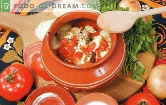 Verduras en una olla de horno: repollo, papas, cerdo y un poco más. Una selección de las mejores recetas de verduras en una olla de horno