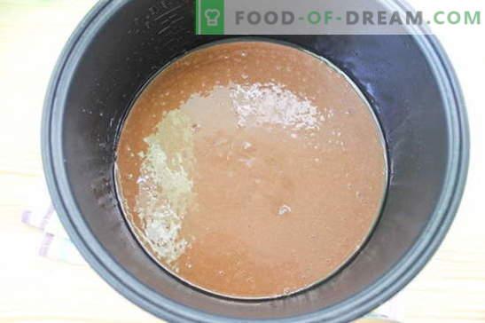 Pastel en una olla de cocción lenta - un postre delicado: una receta con una foto. Descripción paso a paso de cocinar un pastel en una olla de cocción lenta: bizcocho de chocolate
