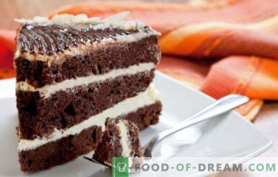 Black Prince cake on kefir - ¡un regalo para los golosos! Variantes del pastel