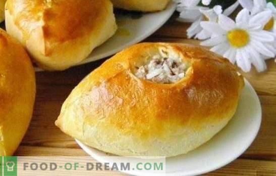 Empanadas con carne picada y arroz: ¡nutritivas, sabrosas, caseras! Cocinando al horno, frito y hojaldre con carne picada y arroz