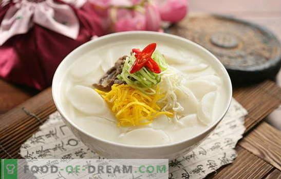 Sopa coreana: ¡fragante, caliente y poderosa! Recetas de sopas coreanas: con daikon, mariscos, fideos, col, tofu