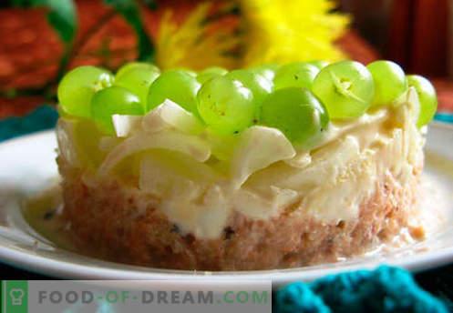 Viinamarjade salat - tõestatud retseptid. Kuidas valmistada viinamarjadega salatit.