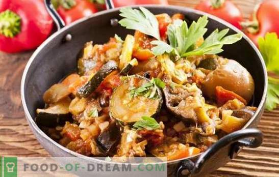 Vegetable stew with eggplants in a slow cooker - great! Recipes and details of cooking vegetable stew with eggplants in a slow cooker