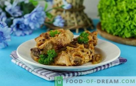 Cerdo con cebollas en el horno - aún más sabor y ternura. Una selección de las mejores recetas de cerdo con cebolla en el horno