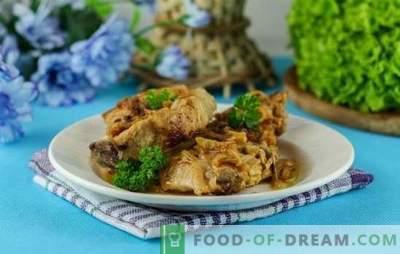 Carne de porco com cebolas no forno - ainda mais sabor e ternura. Uma seleção das melhores receitas de carne de porco com cebola no forno