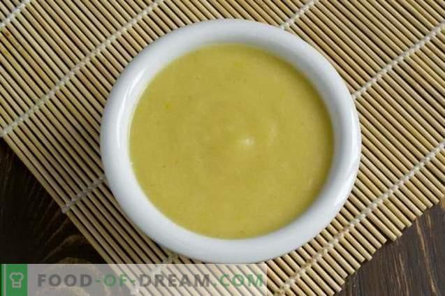 Sopa de crema de frijoles enlatada