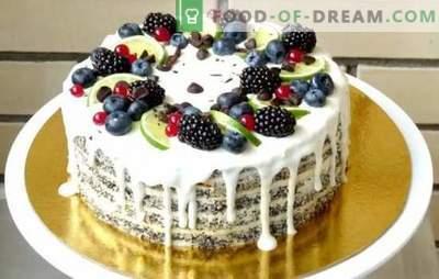 Pastel de crema agria: una receta paso a paso para dulces caseros. Pasteles de crema agria de vainilla, chocolate y jalea (recetas paso a paso)