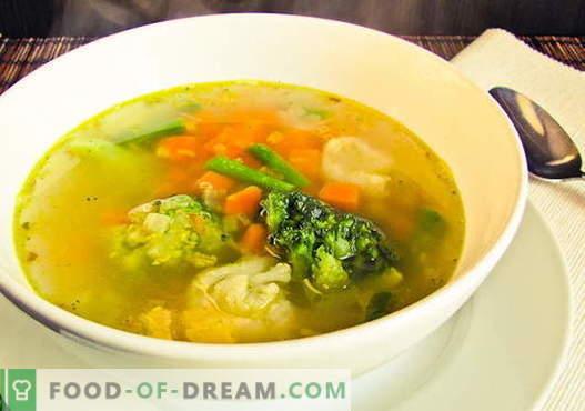 Sopa de coliflor - las mejores recetas. Cómo cocinar correctamente y sabrosa la sopa de coliflor.