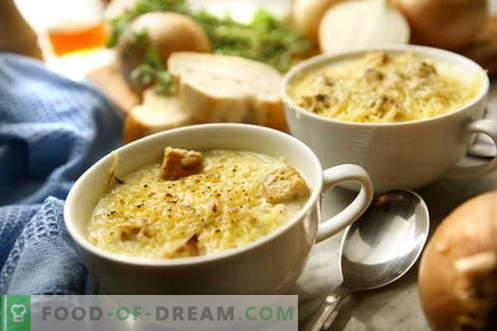 Sopa de cebolla - las mejores recetas. Cómo cocinar correctamente y sabrosa la sopa de cebolla.