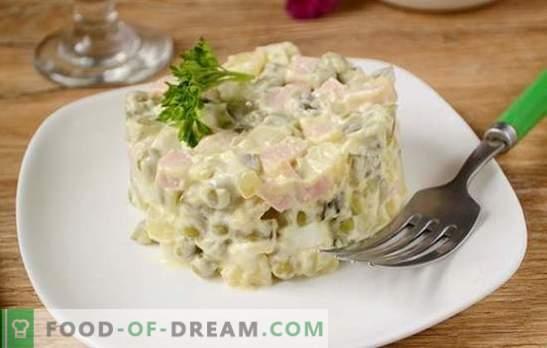 Olivier: ¡la ensalada más popular en la mesa navideña! Ensalada clásica Olivier: una receta fotográfica paso a paso con los secretos del autor para mejorar el sabor del plato