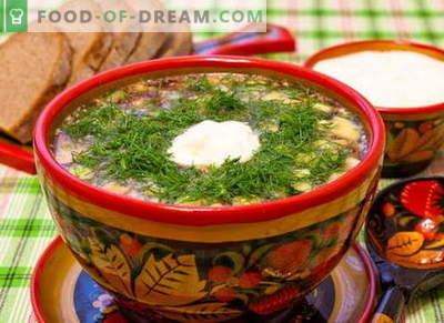 Okroshka - recetas clásicas probadas. Cómo cocinar de forma adecuada y sabrosa la okroshka en kvas, kéfir, suero de leche, agua mineral y mayonesa.