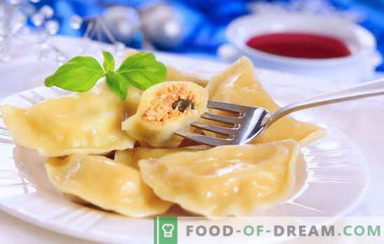 Empanadillas caseras - un plato para todos los tiempos. Para los fanáticos de las albóndigas caseras: ocho recetas sencillas con cerezas, champiñones, queso cottage, carne