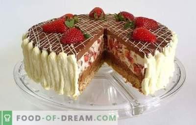 Gâteau au chocolat aux fraises - un rêve de dent sucrée! Recettes étonnantes gâteaux au chocolat avec des fraises pour le thé fait maison