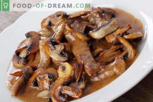 Mięso z grzybami - najlepsze przepisy. Jak właściwie i smacznie gotować mięso z grzybami.