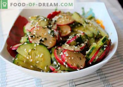 Ensaladas japonesas - las mejores recetas. Cómo cocinar adecuadamente y sabrosa ensalada japonesa.