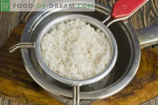 Ensalada de verduras con arroz para el invierno