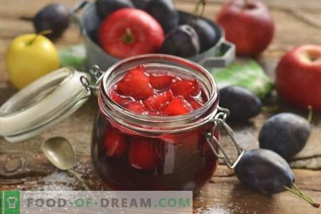 Mermelada de ciruela con manzanas para el invierno