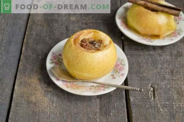Manzanas al horno con miel y frutas secas