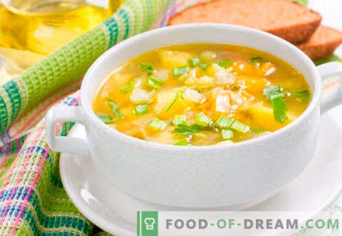 Sopa para quemar grasa - recetas probadas. Cómo cocinar adecuadamente y sabrosa para cocinar la sopa quema grasa.