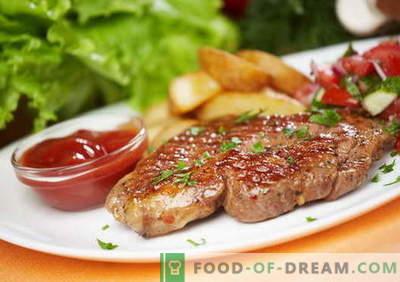 Cūkgaļas steiks - labākās receptes. Kā pareizi un garšīgi gatavot cūkgaļas steiku.