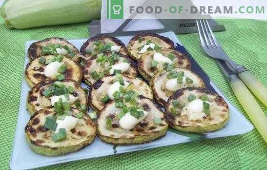 Calabacín frito: recetas para platos rápidos y sabrosos. Recetas de calabacín rápido y sabroso frito en masa, crema agria, empanado