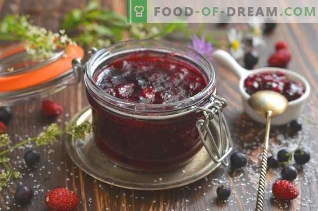 Grosella negra y mermelada de fresa