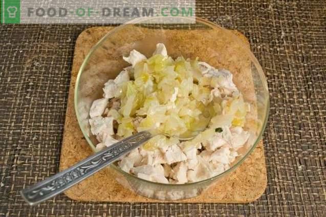 Ensalada de pollo con kiwi y nueces
