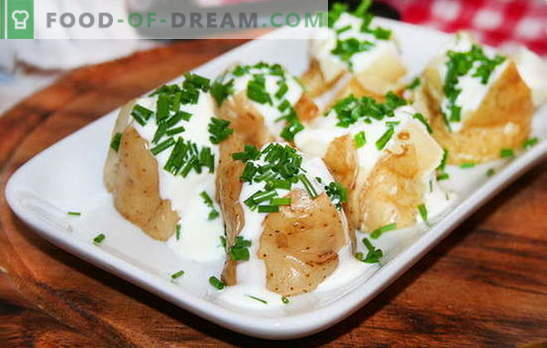 El guiso de papas en crema agria es un acompañamiento tierno y nutritivo. Recetas para papas guisadas en crema agria: en una sartén, en un horno y en una olla de cocción lenta
