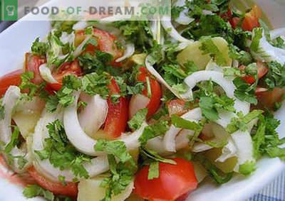 Ensalada de verano - las mejores recetas. Cómo preparar correctamente y sabrosa una ensalada de verano.