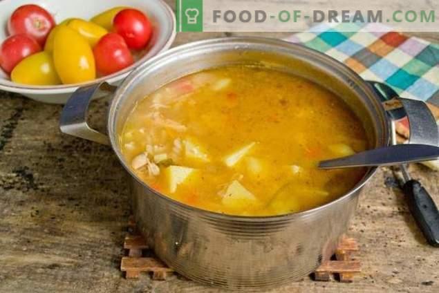 Sopa con pasta y verduras - cuando es rápido, saludable y sabroso