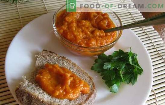 Receta de caviar de calabaza con tomates para el invierno. Caviar de calabaza con tomates para el invierno: en el horno, aerogrill, slow cooker