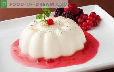 Gelatina de crema agria: ¡disfruta de dulces saludables! Recetas de gelatina de crema agria con vainilla, cacao, fruta, cuajada, chocolate