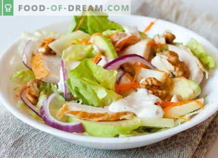Ensalada de pollo ahumada - las mejores recetas. Cómo cocinar adecuadamente y sabrosa ensalada con pollo ahumado.