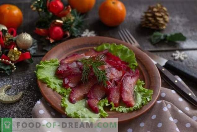 Aperitivo de pescado escandinavo - Gravlax de remolacha