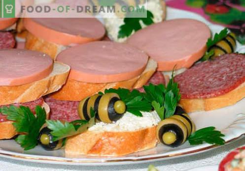 Los sándwiches de salchicha son las mejores recetas. Cómo cocinar de forma rápida y sabrosa los bocadillos con salchicha.