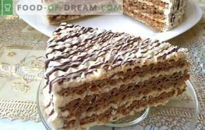 Торта от вафлени торти - просто и с вкус! Бисквити торти с различни кремове