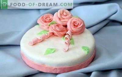 Pasta de azúcar para tartas caseras: en leche, gelatina, de malvaviscos. Recetas para la masilla de azúcar en casa