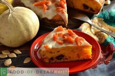 Pastel de calabaza en Kéfir con frutas secas