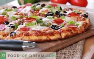 Przepis na szybką pizzę w piekarniku - szybki obiad. Warianty szybkiej pizzy w piekarniku z różnymi nadzieniami: na chlebie pita lub na bagietce
