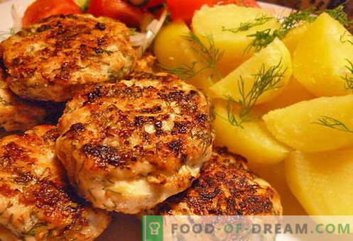 Chuletas de pollo picadas - las mejores recetas. Cómo cocinar adecuadamente y sabroso las albóndigas de pollo picadas.