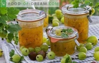 Preparare uva spina: marmellata per l'inverno con arance, noci, lamponi, ribes, banane. Le migliori ricette per marmellata di uva spina per l'inverno