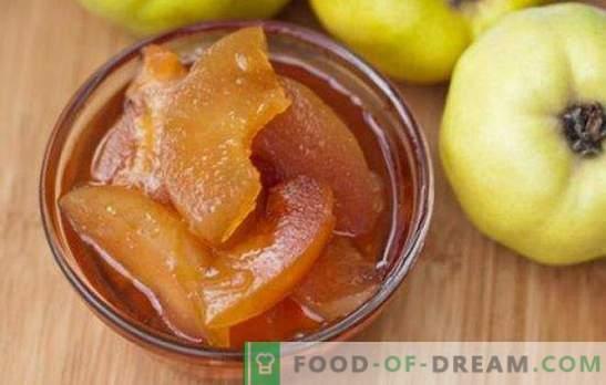 Mermelada de membrillo - excelente sabor! Recetas de diferentes mermeladas de membrillo: naturales, con cítricos, manzanas, nueces, miel