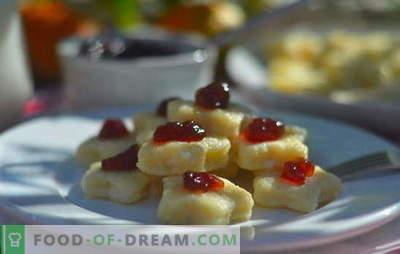Empanadillas perezosas: recetas paso a paso. Cómo cocinar deliciosas albóndigas perezosas con queso cottage, papas, plátano, chocolate