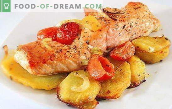 Pescado rojo con papas: una combinación de nobleza y simplicidad. Recetas de pescado rojo con patatas: en papel de aluminio, horno, en una sartén