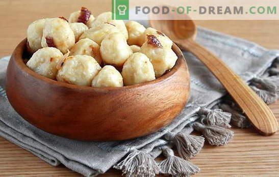 Empanadillas con patatas: ingredientes básicos, principios de la cocina. Recetas deliciosas albóndigas perezosas con patatas