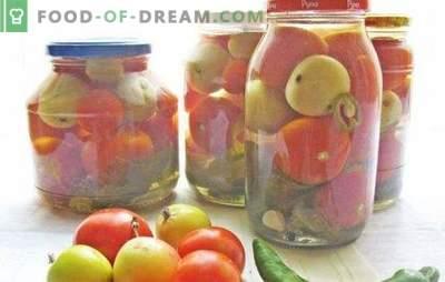 Tomates rojos y verdes con manzanas para el invierno: ¡ayúdate! Recetas de tomates en conserva, salados y en escabeche con manzanas para el invierno