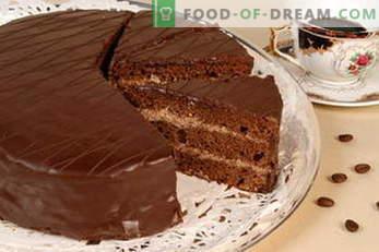 Tortas. Recetas de pasteles: Napoleón, pastel de miel, galletas, chocolate, leche de ave, crema agria ...