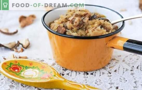 Bigus de chucrut - ¡es tan brillante! Recetas de Bigus con chucrut y con diferentes carnes, verduras, ciruelas, salchichas