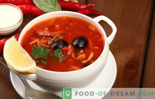 Solyanka z wieprzowiną: odmiany tradycyjnej zupy z wieprzowiną, kapustą, grzybami. Jak zrobić solankę z ziemniakami i ryżem?
