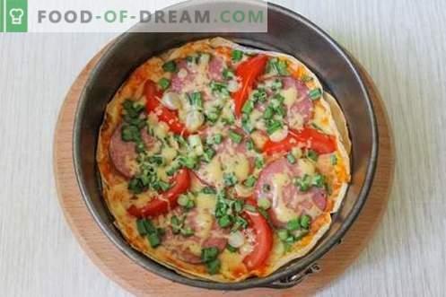 Pizza económica en pita - ¡Rápido y muy sabroso!